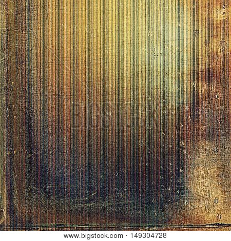 Creative grunge background in vintage style. Faded shabby texture with different color patterns: yellow (beige); brown; gray; red (orange); purple (violet)