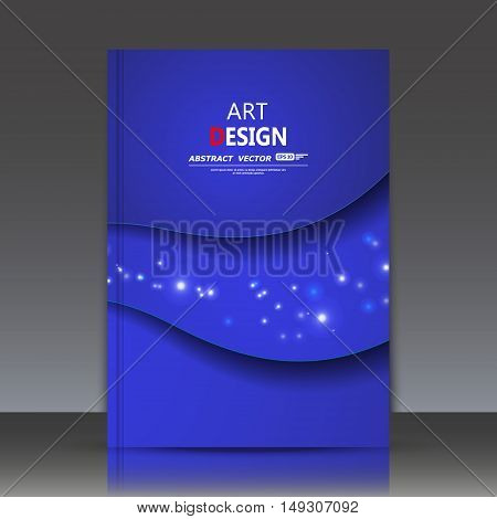 Abstract Composition, A4 Brochure Title Sheet, Cosmic Theme, Star Constellation, Outer Space Icon, L