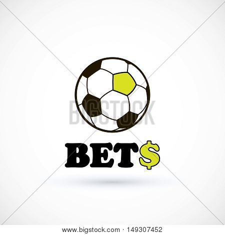 Sport betting soccer ball logo. Vector illustration