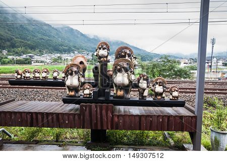 Holiday in Japan - Summer Autumn Transit in Arasiyama Station to Romantic Scenic Train