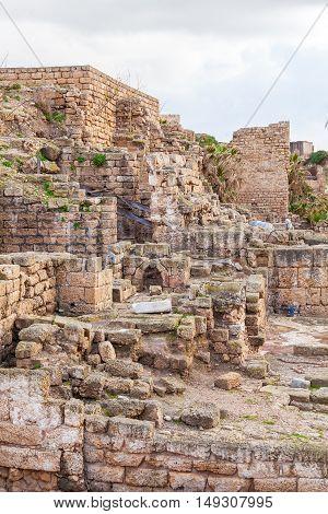 Ruins Of Antique Harbor, Caesarea Maritima