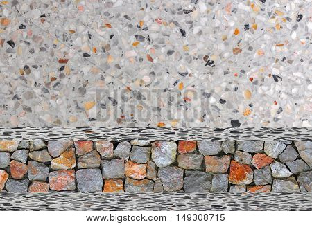 stone wall texture Terrazzo Floor Background. The pattern and colors : space for add text above and may be used as background :