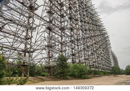 abandoned Soviet radar facility DUGA in Chernobyl