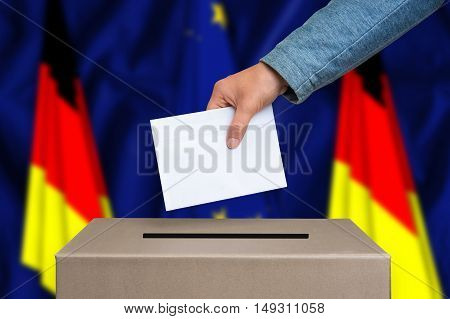 Referendum In Germany - Voting At The Ballot Box