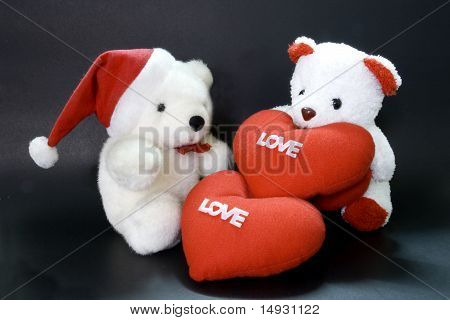 teddy bear heart lover.