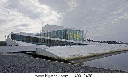 Oslo, Norway - September 16, 2016: Oslo Opera House On 16 Septem