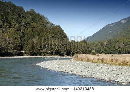 Mackay Creek, Fiordland National Park, Northern Fiordland, Overlooking The Eglinton Valley, On Milfo