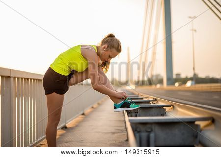 Tying A Shoelace