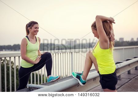 Doing Exercises On The Bridge