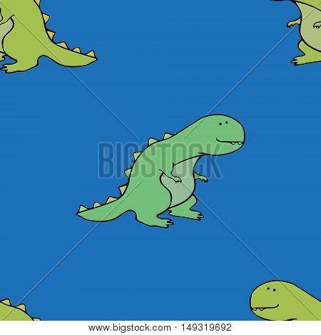 T-rex funny pattern comic cute design dino