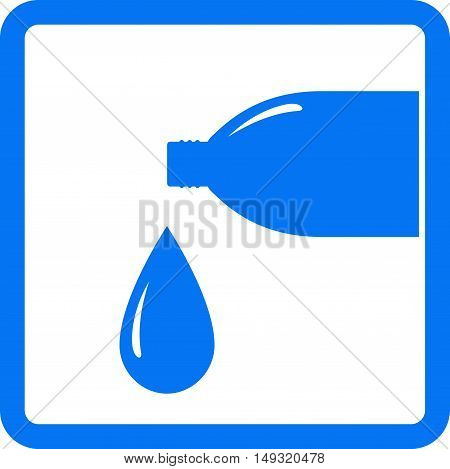 Sign With Drop And Water Bottle
