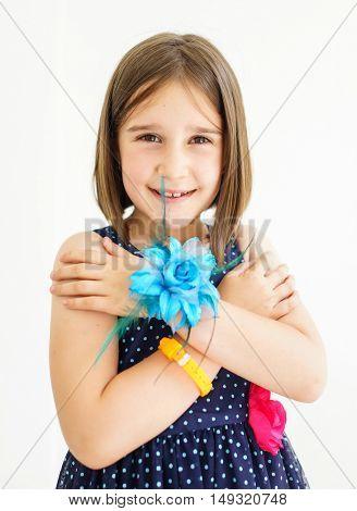 Adorable little girl outdoors