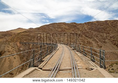 Polvorilla viaduct in the Northwest of Argentina