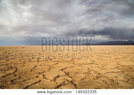 The salt flats Salinas Grandes in the Northwest of Argentina