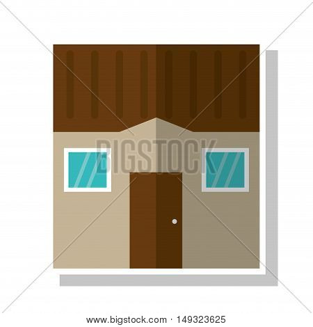 House with windows icon. Home building and real estate theme. Isolated design. Vector illustration