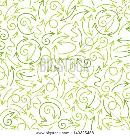 Hand drawn green abstract striped seamless pattern grunge texture. Vegan nature organic healthy food eco recycle environment health background with brush strokes.
