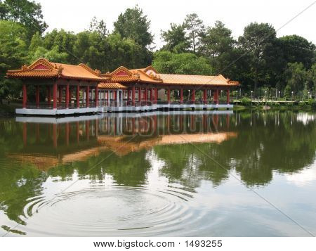 Chinese Pavilion Found At Singapore Chinese Garden