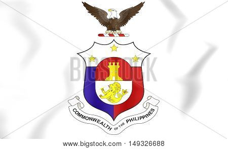 Commonwealth Of The Philippines Coat Of Arms. 3D Illustration.
