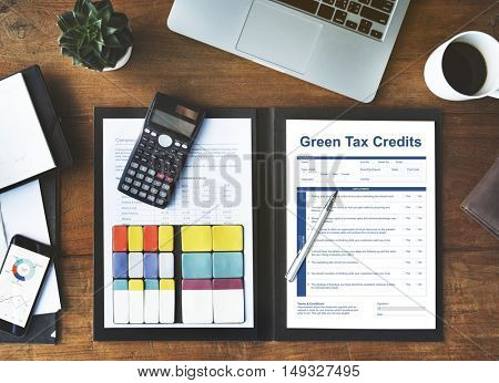 Green Tax Credits Investment Saving Debates Concept