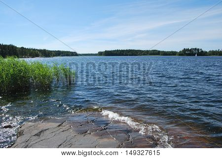 Summer serenity on the small islands of Baltic archipelago