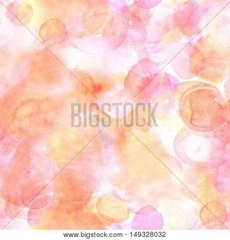 A seamless artistic pink background texture in tender pastel tones. A festive frame for a birthday card or a wedding invitation