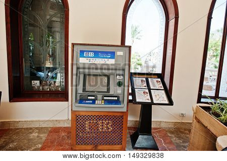 Hurghada, Egypt -20 August 2016: Cib - Commercial International Bank Egypt Atm