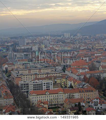 Cityscape Of Maribor, View From Piramida Hill