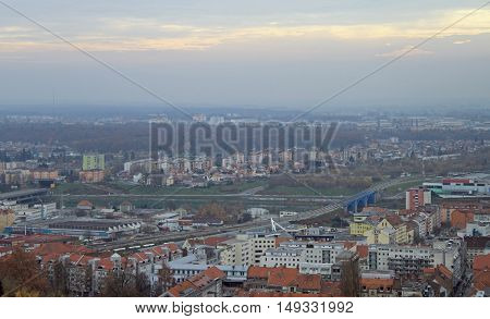 Cityscape Of Maribor, View From Piramida Hill