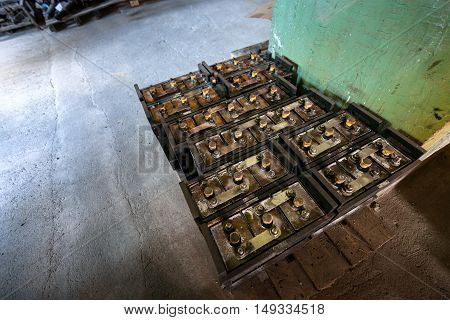 Large amount of industrial power supplies angle shot
