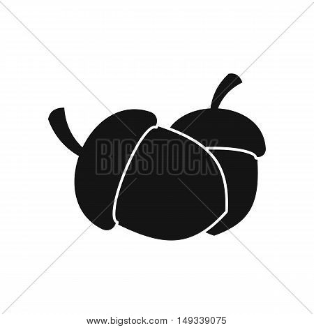 Acorn icon in simple style on a white background vector illustration