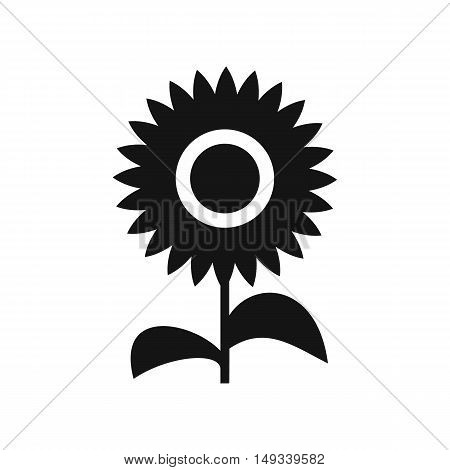 Flower icon in simple style on a white background vector illustration
