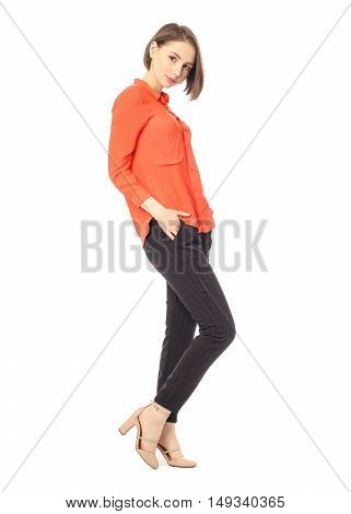Portrait Of Young Manager Worker On White Background