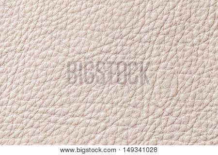 Light beige pearl leather texture background with pattern closeup.