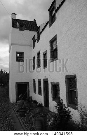 An exterior view of some of the old architecture in Culross