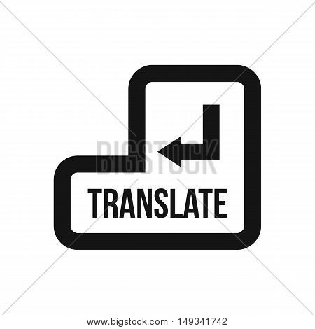 Translate button icon in simple style on a white background vector illustration