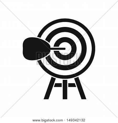 Target icon in simple style on a white background vector illustration