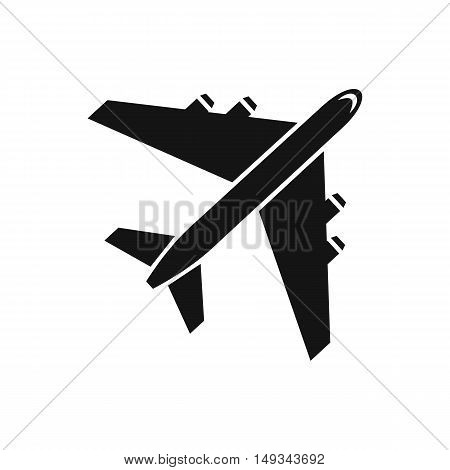 Passenger airliner icon in simple style on a white background vector illustration