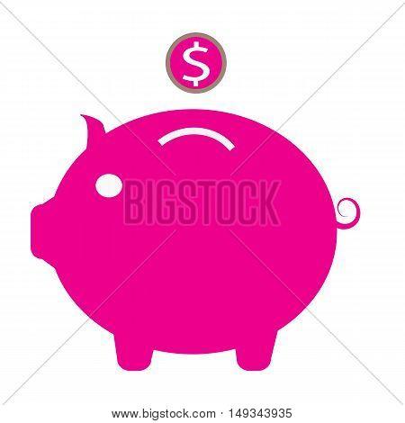 Piggy bank icon, piggy money bank icon