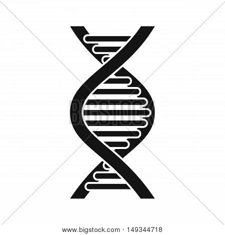 DNA strand icon in simple style on a white background vector illustration