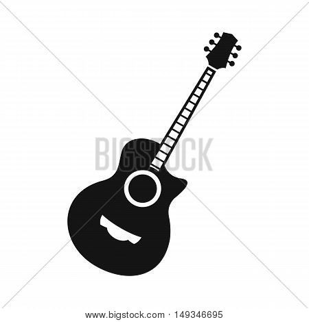 Classical guitar icon in simple style on a white background vector illustration