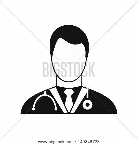 Doctor icon in simple style on a white background vector illustration