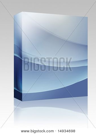Software package box Abstract wallpaper illustration of wavy flowing energy and colors