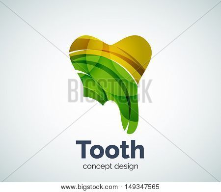 tooth logo template, abstract business icon