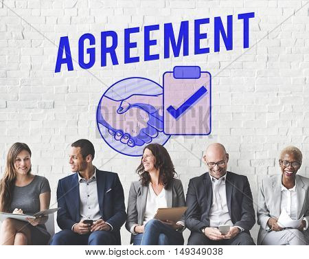 Business Agreement Deal Handshake Graphic Concept