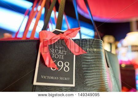 HONG KONG - SEPTEMBER 02, 2016: Victoria's Secret at New Town Plaza. Victoria's Secret is an American designer, manufacturer and marketer of women's premium lingerie, womenswear and beauty products.