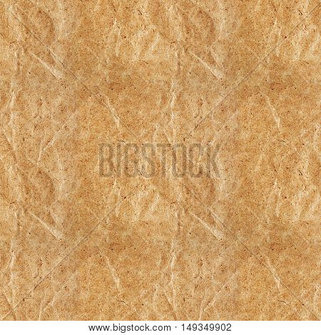 Seamless pattern of rough brown kraft paper