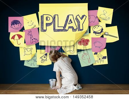 Play Joyful Enjoyment Playful Imagination Dreams Concept
