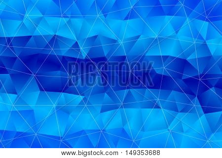 Abstract polygonal background. Triangular low poly style gradient illustration. Blue Abstract Background