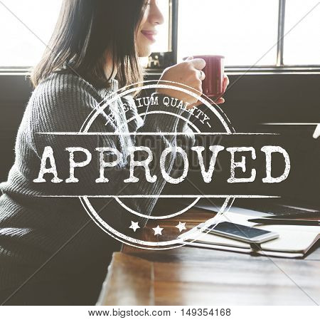 Authorized Approved Certified Stamp Concept