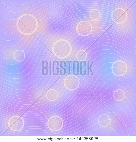 Abstract light lilac background. Blurred vector background with circles.